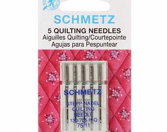 Schmetz Quilting Needles 75/11 Package of 5