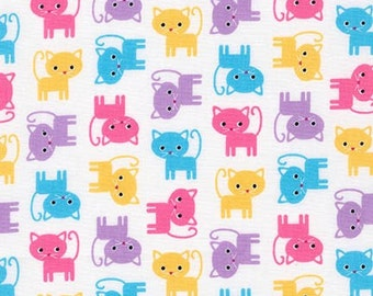 Robert Kaufman Fabric Urban Zoologie Minis Cats Spring Ann Kelle, Choose your cut