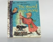 Vintage Sword and the Stone Golden Book 1973
