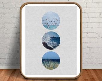Beach Print, Beach Wall Decor, Beach Decor, Beach Wall Art, Seaside Print, Beach, Wave Print, Seaside, Seaside Art, Beach Photography, Sea