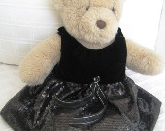 Teddy Bear Clothes, Geri Sequin and Velvet Dress