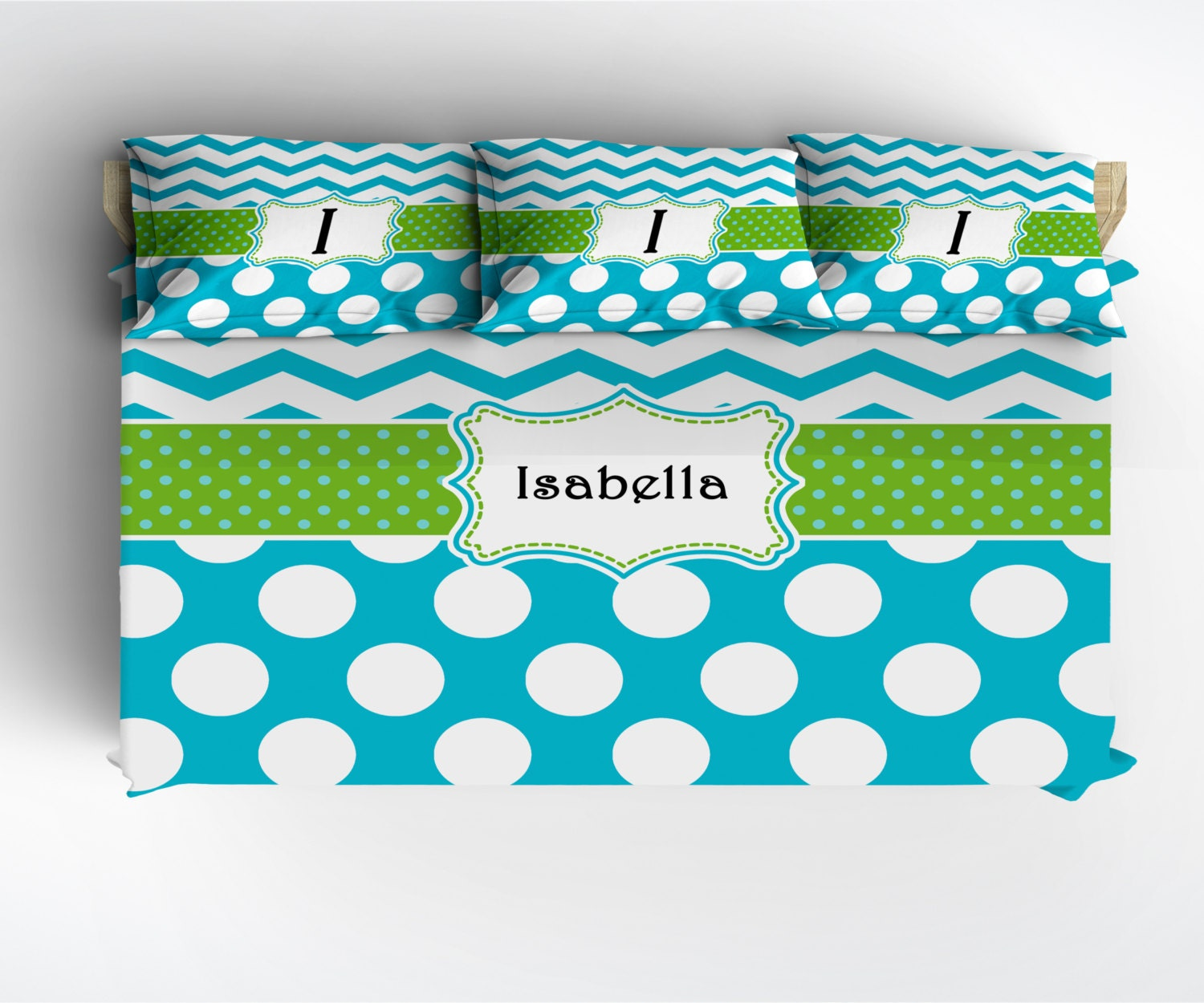 Daybed Twin Polka Dot Amp Chevron Custom Personalized Bedding