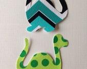 2 Small Fabric Iron On Dinosaur Appliques