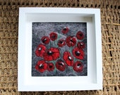 Wet Felted Poppy Picture