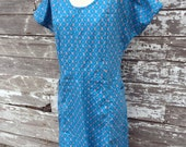 Vintage 50's House Dress Farm Style Frock Smock with pockets Dutch People print