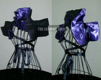 Maleficent Shoulder Dramatic Collar Bolero shrug wrap Burlesque Anime Cosplay