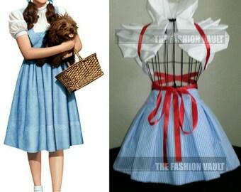 Wizard of Oz Dorothy Cosplay apron peplum burlesque bustle skirt and dramatic bolero wrap