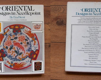 vintage 1979 ORIENTAL designs in Needlepoint by Eva Brent 20 original designs based on authentic work of art from  the Orient  hc