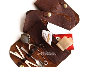 Brown Leather Steampunk Tea Wallet