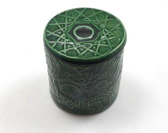 Ceramic Jar Handmade Pottery Sacred Geometry