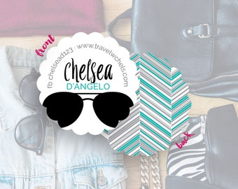 Business Card Design, Social Media Cards, Blogger Contact Cards, Mommy Calling Cards, Cards & Case // Chelsea S-S34 UU1