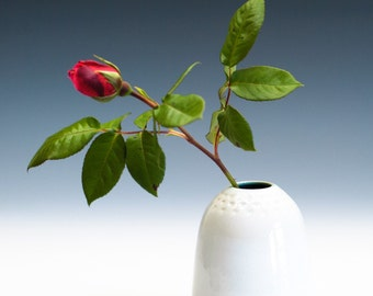 Bright White Vase / Ceramic Vessel