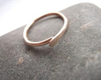 14k Gold 16g 12mm Cartilage Earring Hoop,  Daith, Septum