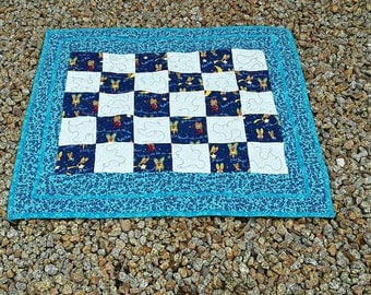 Baby Boy Blanket, Blue Baby Quilt, Handmade Blanket, Baby Shower Gift, Nursery Rhymes Quilt, Wish Upon A Star, Baby Quilt Blanket, Quiltsy