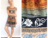 STORE SALE 30% off Vintage 90s Elephant India Animal Mini Ethnic Dress