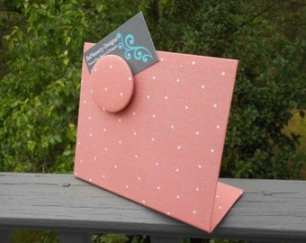 Magnetic Message Board, Fabric Magnetic Board, Coral Magnet Board, Freestanding, Baby Nursery, Baby Shower Gift Idea