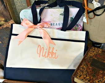 Personalized Monogrammed Tote Bag, Bridesmaid Gift, Personalized Bridesmaid Tote