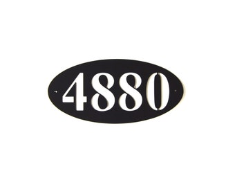 Elliptical Address Plaque Metal Art - Free USA Shipping