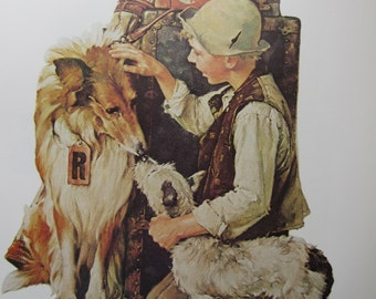 Making Friends/Jazz It Up, Norman Rockwell Magazine Cover Prints, 2-Sided Vintage Book Page, Unframed Color Plate, 1979