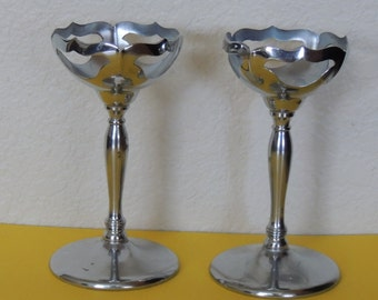 Farber Brothers NY Metal Holders for Cambridge Glass