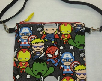 Kawaii Avengers purse messenger bag with adjustable strap