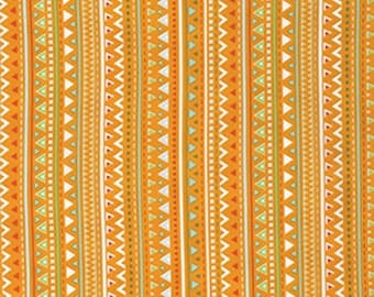 Free Spirit Dena Designs  PWDF223 - Happi Horses - Triangles - Orange  -  1 Yard Cut