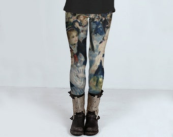 Au Moulin (Renoir)  - Leggings - Yoga Pants - Death's Amore Clothing - From XS to XL