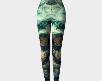 Sturm Und Drang (Vintage Stormy Sea)- Leggings - Yoga Pants - Death's Amore Clothing - From XS to XL