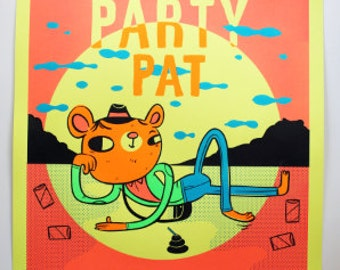 PARTY PAT Adventure Time print/poster