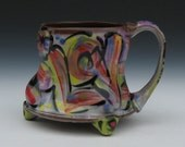 rainbow love mug with feet large mug holds lots of coffee tea water juice or beer