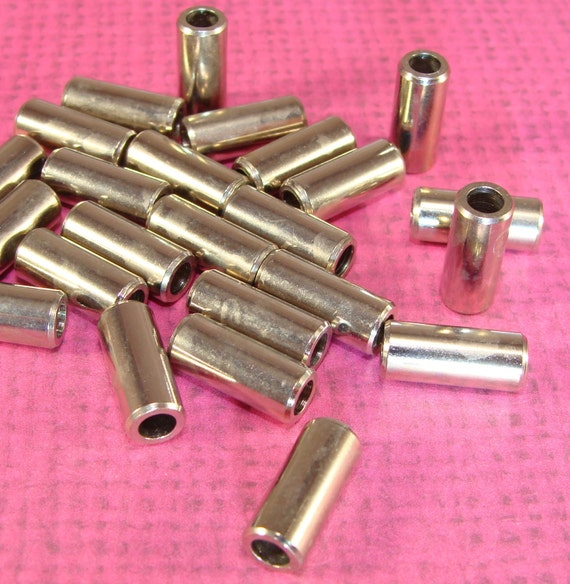 Silver greek tube beads mm cylinder spacer fat bugle