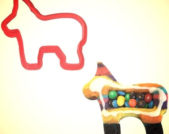 """Pinata cookie cutter, 4"""" Donkey cookie cutter, Cinco de Mayo  cookie cutter, Made in USA"""