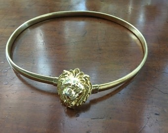 Vintage Anne Klein Lion Head Stretch Belt