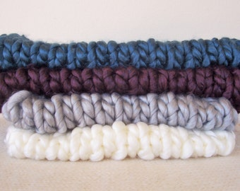 Mega Chunky Blanket Photography Prop Newborn Roving Layer READY Ship Baby Photo Super Knit Mat Basket Fill Stuffer Bowl Liner Bucket Filler