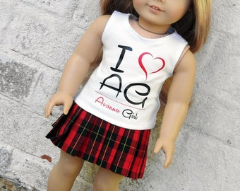 I Love AG Avanna Girl Graphic Tank Top for 18 Inch Dolls