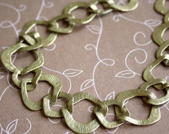 Antique Gold Fancy Big Links Chain - 1 metre