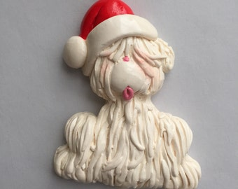 Personalized Shaggy Dog Christmas Ornament