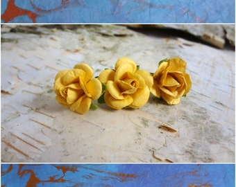 Yellow Rose Hair Bead for Dreadlocks. Dread Charm Large Hole Bead Cuff Garland. Hair Accessories. Made and Ready to Ship.