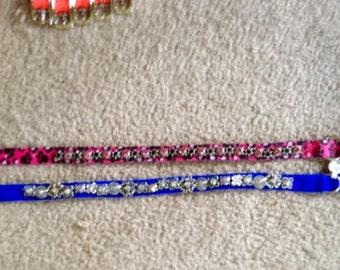 "Swarovski Crystal 16"" collar, choice of 2 different collars! Choose ONE"