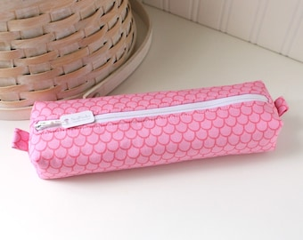 Pink Mermaid Cute Pencil Case Pink Boxy Pouch Pink Pencil Case Organizer Pink Zipper Pouch