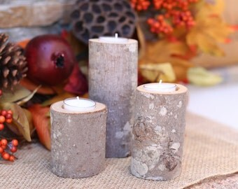 Rustic Wood Candle Holders Wedding Decor Thanksgiving Christmas Holiday Party Bridal Shower (NVMHDAY2032)