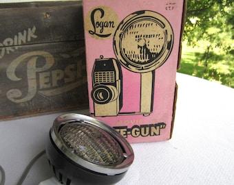 Vintage GE Logan Movie Lite - Gun Photo Flood Lamp