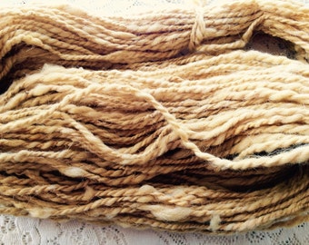Yarn, Handspun, New Mexican Navajo Churro Wool, Plant Dyed, Double Ply, Worsted Weight, Cota