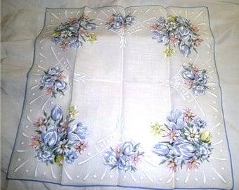 VINTAGE HANKIE -  Easter Pastel Bouquet