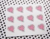Valentine Stickers Heart Stickers One Inch Round Ses301