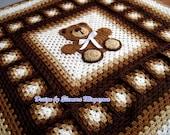 "Teddy Bear crochet blanket 54"" by 80"" for miss Donna"