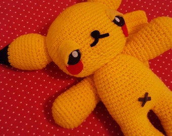 Pokemon Pikachu Amigurumi Doll Pattern PDF - Instant Download