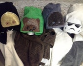 HOODED TOWELS  Star Wars inspired towels, FREE name embroidered