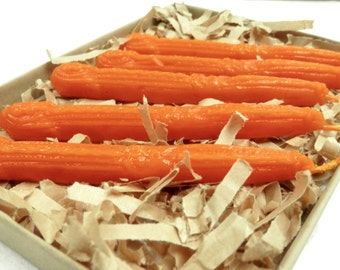 Natural Sealing Wax 5 sticks ORANGE color with wick Traditional mold - for stamps Non-toxic ECO no plastics Gift-wrapped