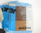 Vintage 60s Nylon Stockings Seamless Nylons by Beauty Pack Original Package Size 10 Color Cinnamon